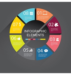 Simple circle Infographic elements vector