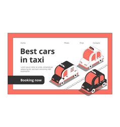taxi cars booking website vector image