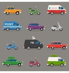 Transportation and automotive symbol vector