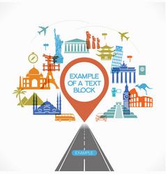 Travel destinations infographic vector