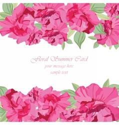 Vintage Spring Summer delicate peony vector image