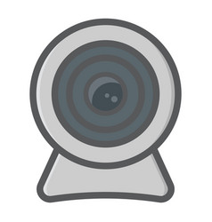 Webcam colorful line icon device and camera vector