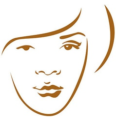 woman head contour vector image