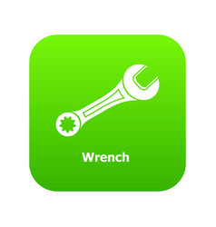 wrench icon green vector image