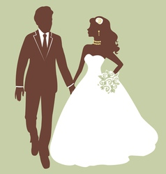 Beautiful wedding couple vector image