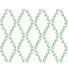 Green Floral Seamless Pattern from Leaves on white vector image vector image