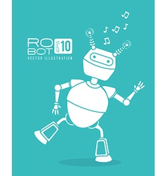 Robot design over blue background vector image