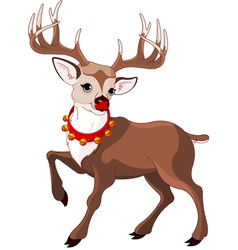 rudolf the red nosed reindeer vector image