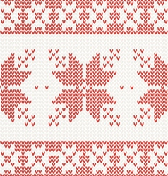 seamless knitted pattern with christmas ornament vector image
