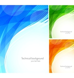 Set of tech backgrounds vector image