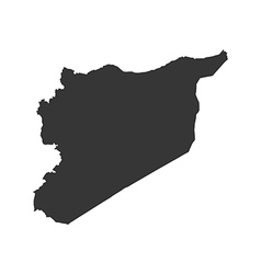 Syrian Arab Republic map silhouette vector image vector image