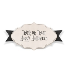 Trick or treat text on realistic halloween banner vector