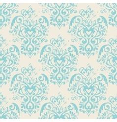 damask grunge seamless pattern vector image
