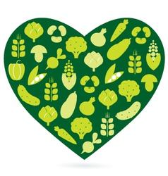 healthy food heart vector image vector image