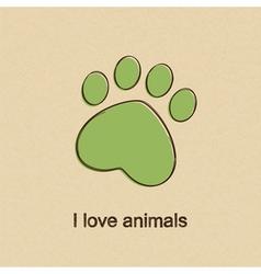 I love animals vector image vector image