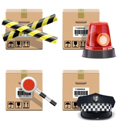 Shipment Icons Set 25 vector image vector image