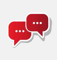 speech bubbles sign new year reddish icon vector image