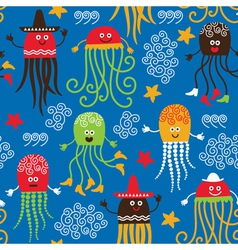 cute octopuses vector image vector image
