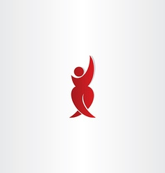 man standing red icon winner vector image vector image