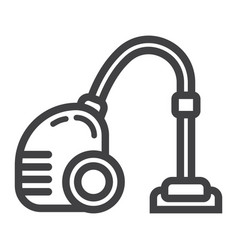 vacuum cleaner line icon electric and appliance vector image vector image