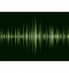 alpha green techno beat vector image vector image
