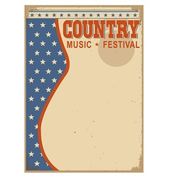 American Country music background with text vector image vector image