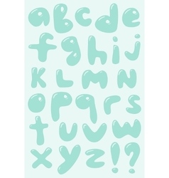 Blue bubble shaped lower case alphabet vector image vector image