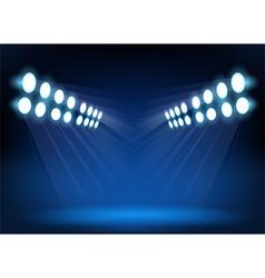 Blue spotlights vector image vector image