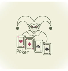 Joker and playing cards vector image vector image