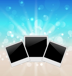 Set pictures on seascape background vector image vector image