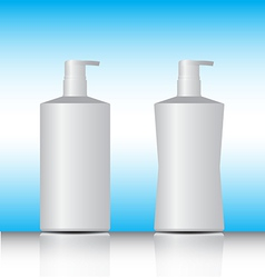 white pump bottle vector image