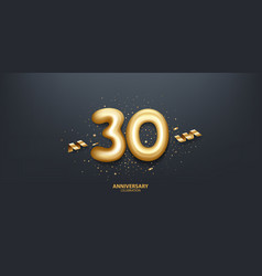30th year anniversary background vector