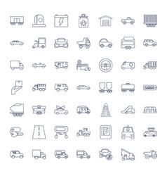 49 car icons vector