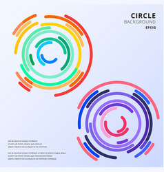 abstract colorful circles maze rounded corners vector image
