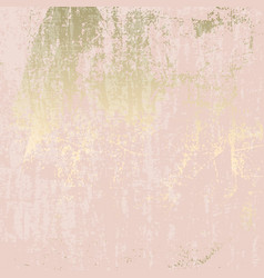 Abstract grunge pattina effect pastel gold retro vector