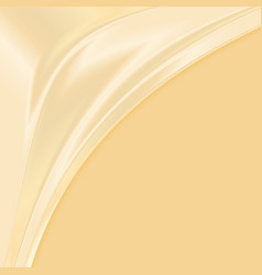 Abstract yellow fabric texture background vector