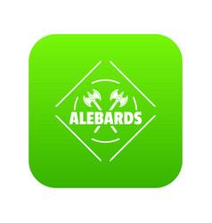 alebard icon green vector image