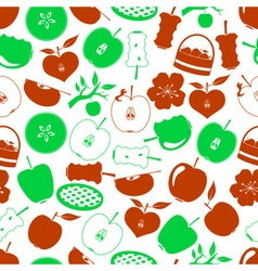 Apple theme simple icons seamless pattern eps10 vector