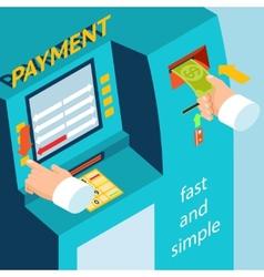 ATM terminal payment cash vector
