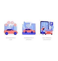 Autonomous transport concept metaphors vector