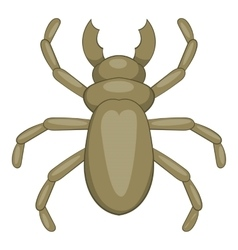 Beetle woodworm icon cartoon style vector