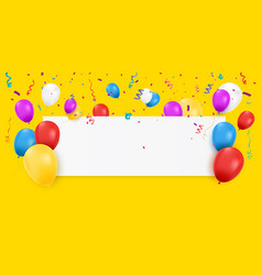 blank banner with balloons vector image