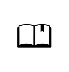 book with bookmark flat icon vector image