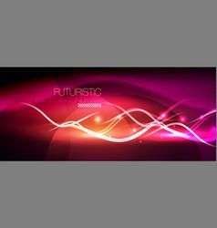 Bright neon lines wave vector