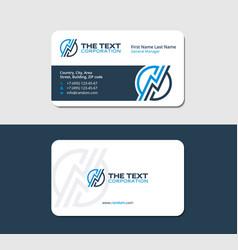Business card with a thunderbolt vector