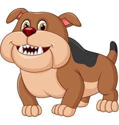 cartoon bulldog isolated on white background vector image