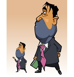 Cartoon man in a suit with a folder in his hand vector