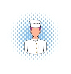 Chef icon in comics style vector image