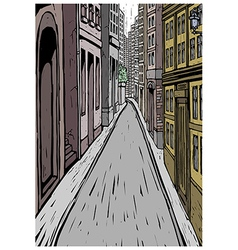 City Street Alley Scene vector image
