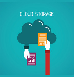 cloud storage concept in flat style vector image